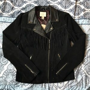 Black leather jacket NEVER WORN